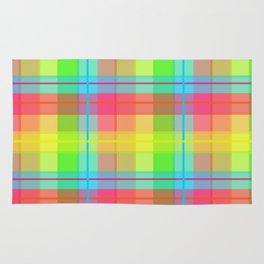 Rainbow Plaid Rug