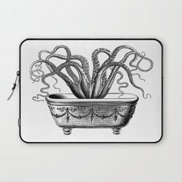 Tentacles in the Tub | Octopus | Black and White Laptop Sleeve