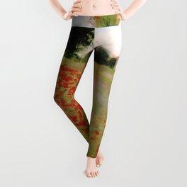 POPPIES - CLAUDE MONET Leggings
