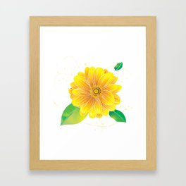 Helianthus - The Color of Vitality, Intelligence and Happiness Framed Art Print