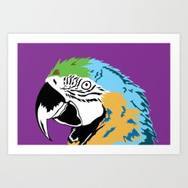 STATIONERY CARD - Parrot Art Print