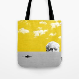 Ernest Hemingway | Old man and the Sea | Digital Collage Art Tote Bag