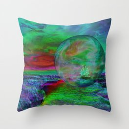 Adventurous journey Throw Pillow