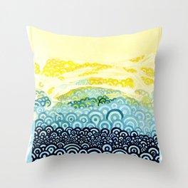 Seigaiha Series - Embrace Throw Pillow