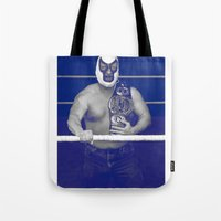 pain Tote Bags featuring Pain by Mark James
