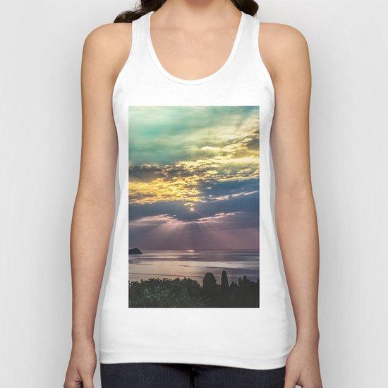 Cloudy sunrise Unisex Tank Top