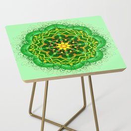 Mandala Zen Greenery Seamless Pattern Design Side Table