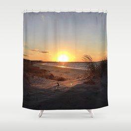 Off-Season Sunsets Shower Curtain