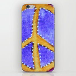 Golden Peace Sign iPhone Skin