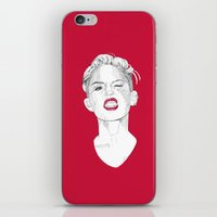 miley iPhone & iPod Skins featuring Miley by Fernando Monroy Robles