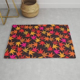 Fall leaves colorful pattern Rug