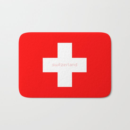 Switzerland Lovers Bath Mat
