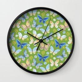 Bright Butterflies Wall Clock