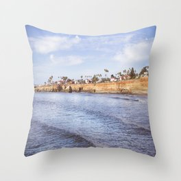 Sunset Cliff Throw Pillow