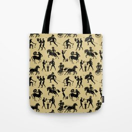 Greek Figures // Tan Tote Bag