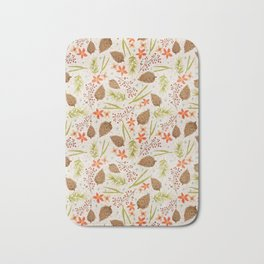 Quiet Walk In The Forest - A Soft And Lovely Pattern Bath Mat