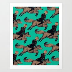 Let's Ride Art Print