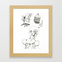 Bird's Nest Framed Art Print