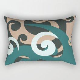 Koru Design, Grey Background Rectangular Pillow