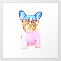 mike wrobel Art Prints featuring Mike by babaganoosh