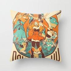 Pokemon XY Megavolution Throw Pillow