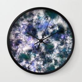 The silent blue decay Wall Clock