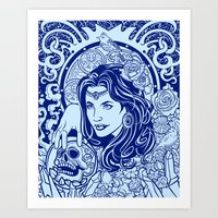 gypsy Art Prints featuring Gypsy by albertsurpower