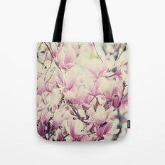 Purple Magnolia Blossoms Spring Botanical Tote Bag