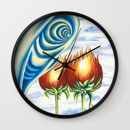 Poppie Flowers Wall Clock
