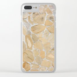 Stony pattern Clear iPhone Case