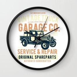 Vintage Truck Garage Co Wall Clock