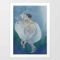 Best Underwater Kiss Art Print