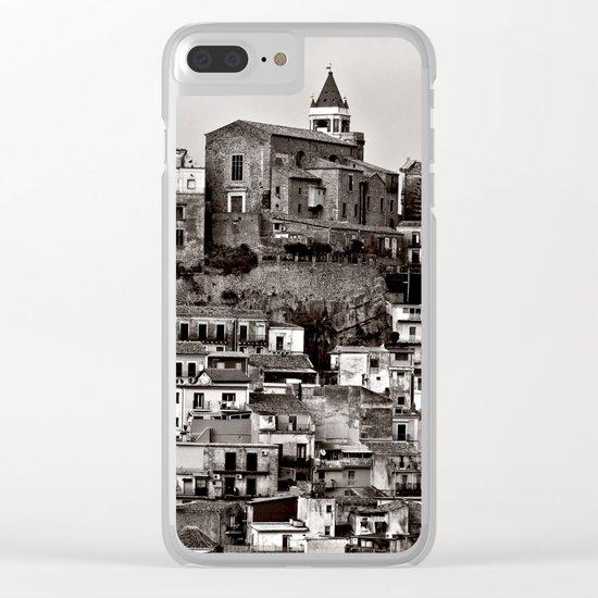 Sicilian Mountain Village Clear iPhone Case