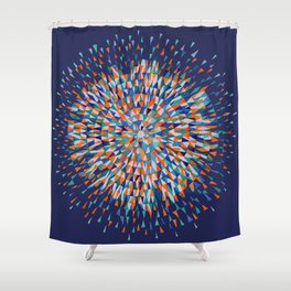 Hippie Style Firecrackers Shower Curtain