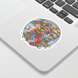 Beatrix Bee Queen by Bobbie Berendson W Sticker