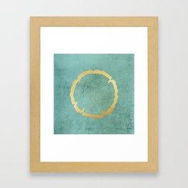 Gold Foil Tree Ring Framed Art Print