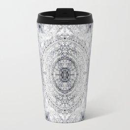 Black&white Mandala - & Grey Blue Travel Mug