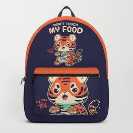 My Food // Cute Tiger Cub, Big Cat, Feline Backpack