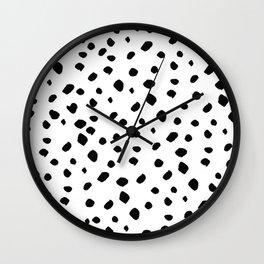 Dalmata dots Wall Clock