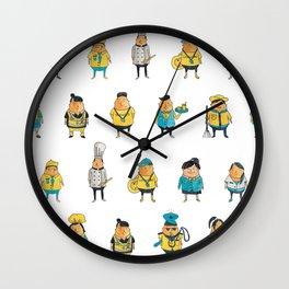 Wooferland: Wooferkers Pattern Wall Clock