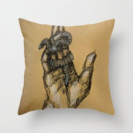Snake Hand Throw Pillow