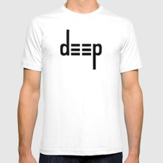 DEEP - Ambigram series White Mens Fitted Tee SMALL