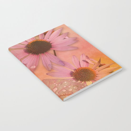 Raindrops on leaves and flowers Notebook