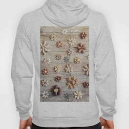 Dried fruits arranged forming flowers (4) Hoody