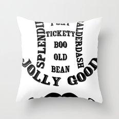 Moustache Ol' Chap! - Vintage Throw Pillow
