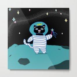 Space Kitty Princess Metal Print