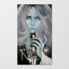Alien warrior girl Canvas Print
