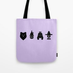 cowardly lion, tin man, dorothy & scarecrow Tote Bag