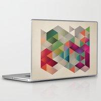 contemporary Laptop & iPad Skins featuring contemporary design by Yevheniia Hlova