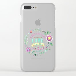 Psalm 37:5 Clear iPhone Case